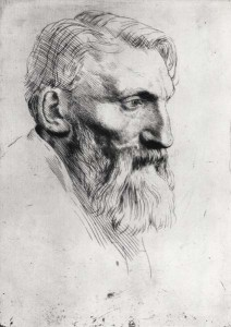 Auguste Rodin (1840–1917) drawn by Alphonse Legros (1837–1911)