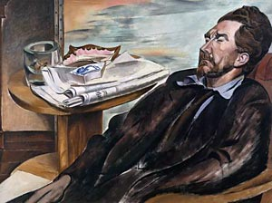 Ezra Pound painted by Wyndham Lewis