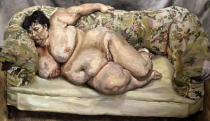 "Lucian Freud, ""Benefits Supervisor Sleeping"""