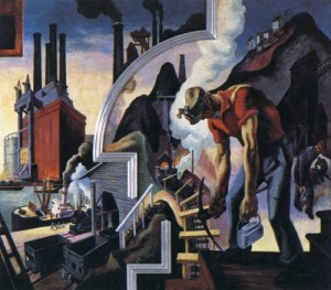 "Thomas Hart Benton, ""Coal,"" 1930"