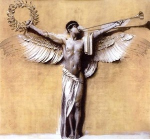 "Franz von Stuck, ""The Spirit of Victory"""