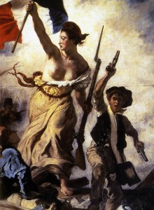 "Eugene Delacroix, ""Liberty Leading the People,"" detai, 1830"