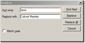 Search and Replace: Jews