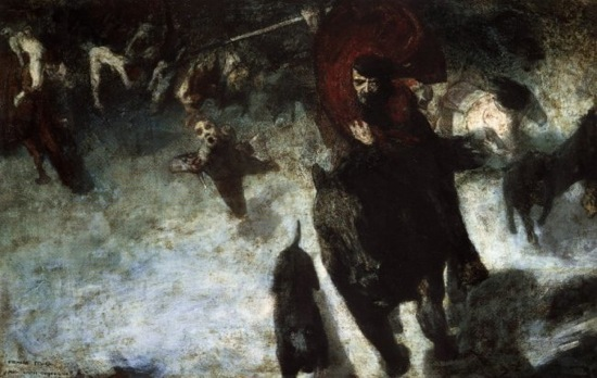 "Franz von Stuck, ""The Wild Hunt,"" 1889"