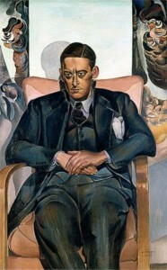 Wyndham Lewis, Portrait of T. S. Eliot, 1938