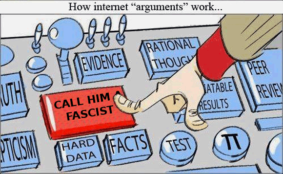 "How Internet ""arguments"" work..."