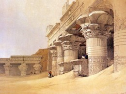 "David Roberts, ""Pronaos of the Temple of Edfou,"" 1838"