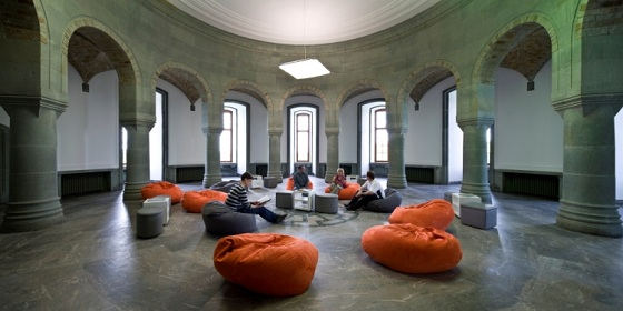 Marble Hall of Wewelsburg Castle, furnished in Federal Republic style