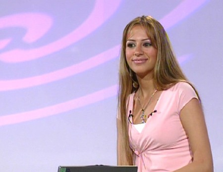 Familiar formula: pretty, Westernized girls.  Arab Iraqi TV Presenter Rosil Al Azawi.