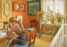 "Carl Larsson, ""The Letter,"""