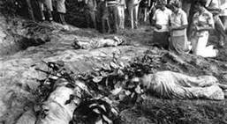 Four nuns who provided food, shelter, and transport to Marxist guerillas were raped and murdered by anti-Communist paramilitaries in El Salvador in 1989.