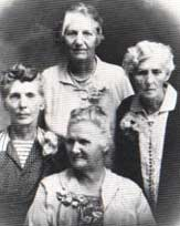 The German sisters circa the 1920s: Catherine right, Sophia left, Addie bottom, Julia top