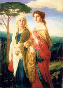 "Simeon Solomon, ""Judith and her Attendant going to the Assyrian Camp,"" 1872"