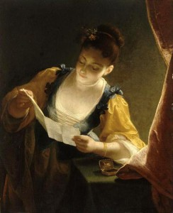 "Jean Raoux, ""Young Woman Reading a Letter,"" before 1734"