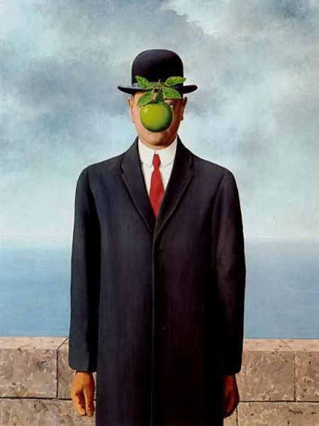 The Son of Man, by René Magritte, 1964