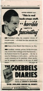Lurid 1948 newspaper ad for Lochner's best-selling book