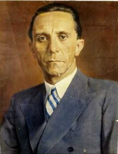 Portrait of Goebbels by Wilhelm Otto Pitthan
