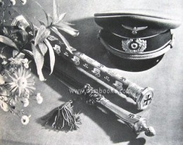 Rommel's Marshal's baton and Interim baton at his funeral