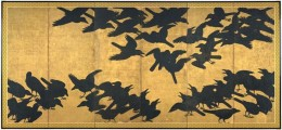 Crow Screen, Japan, 17th century, Seattle Art Museum