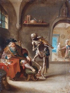 "Frans Francken the Younger (Antwerp 1581 - 1642), ""Death and the Miser"""