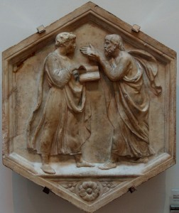 "Luca della Robbia, ""Plato and Aristotle, or Philosophy,"" 1437-1439"