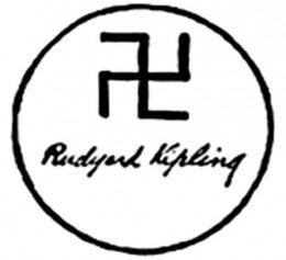 Kipling used swastikas in the published versions of his books