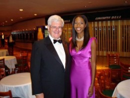 "Keli ""White Porn Actresses are Racists"" Goff with ex-Congressman Newt Gingrich (R.-Ga.)"