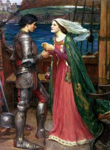 "John William Waterhouse, ""Tristan and Isolde Sharing the Potion,"" 1916"