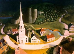 "Grant Wood, ""The Midnight Ride of Paul Revere"" (1931)"