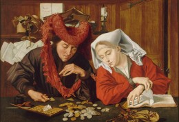 Marinus_van_Reymerswale_007-The-moneychanger-and-his-wife.
