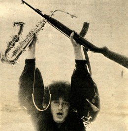 Rob Tyner, MC5. Photo by Leni Sinclair. Interesting hair and fashion choices too.