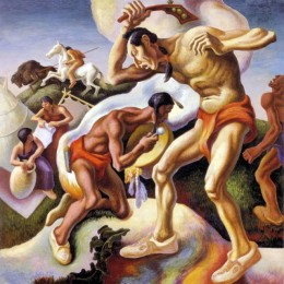 "Thomas Hart Benton, ""Indian Arts,"" 1932"