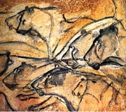 Lions, Chauvet cave, France, painted circa. 35,000 years ago