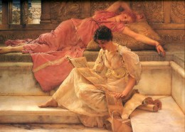 "Sir Lawrence Alma-Tadema, ""A Favorite Poet"""
