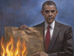 "Jon McNaughton, ""One Nation Under Socialism,"" detail"