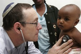 """A Jewish medical giant"": American-born Dr. Rick Hodes, medical director of the American Jewish Joint Distribution Committee responsible for the health of Ethiopians immigrating to Israel. He was privately praised by Israeli officials for bringing birth control to blacks in Ethiopia."