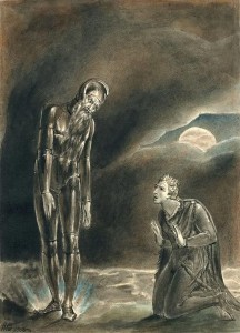 "William Blake, ""Hamlet and his Father's Ghost"""