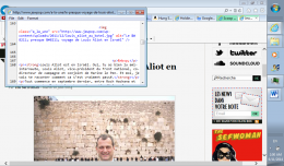 Screenshot of the Wailing Wall forgery source code shows that Jewpop.com is not referencing an outside source for the photo.