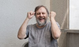 Slavoj Žižek at his home in Lubljana.