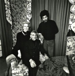 Felicia & Leonard Bernstein at home with Black Panther Field Marshal Donald Cox, New York City, 1970. Note Felicia's hand on Cox's wrist.