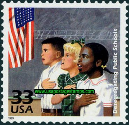 US stamp-desgregating schools