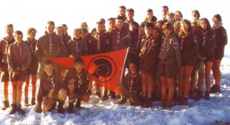 A Troop of Europe Jeunesse - a scouting organization founded by Pierre Vial Jean Mabire and Maurice Rollet