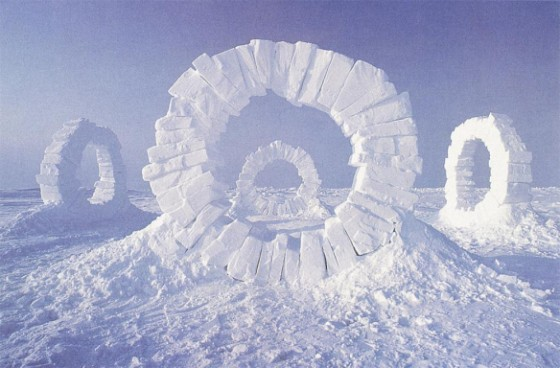 Andy Goldsworthy, Touching north, North Pole (1989)