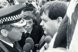 Martin Webster on the march in 1980