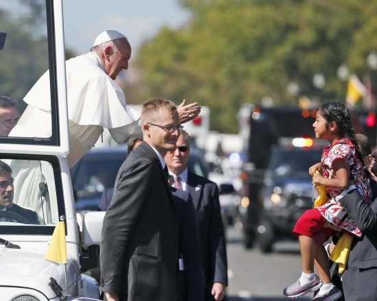 The Pope and the Anchor Baby in a photo op that was planned one year ago.