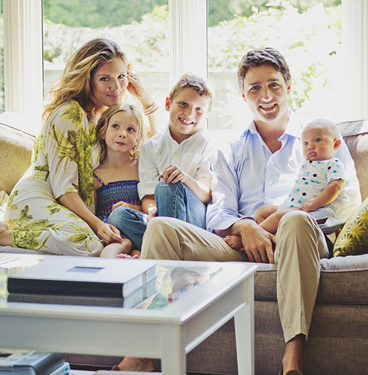 Justin Trudeau and family