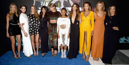 Girl Squad, Taylor 5th from left.