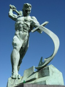 Evgenii Vuchetich, We Shall Beat Our Swords Into Plowshares, 1957