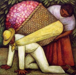 Diego Rivera, Flower Carrier