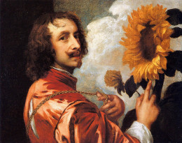 self-portrait-with-a-sunflower-1632